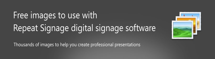 Free images for digital signage software